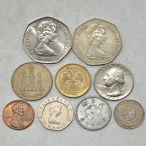 国外老钱币九枚