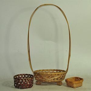 日本花道竹篮三个