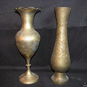 二十世纪初期欧洲回流铜花瓶两件