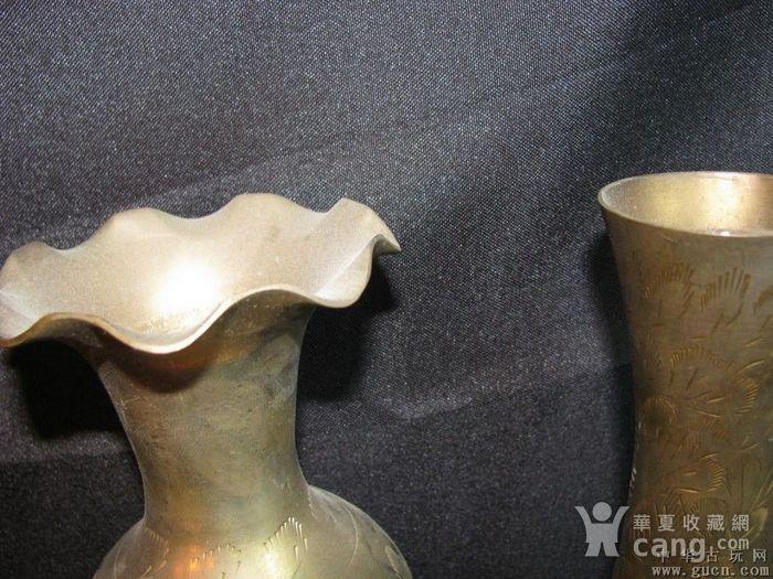 二十世纪初期欧洲回流铜花瓶两件图4