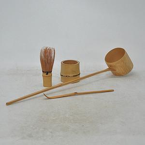日本茶道竹器皿四件