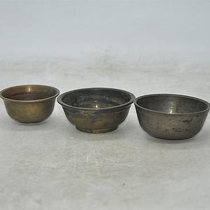 日本茶道铜器皿三件