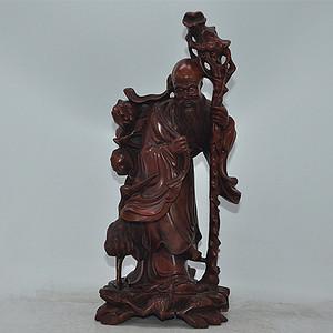 木雕仙翁摆件