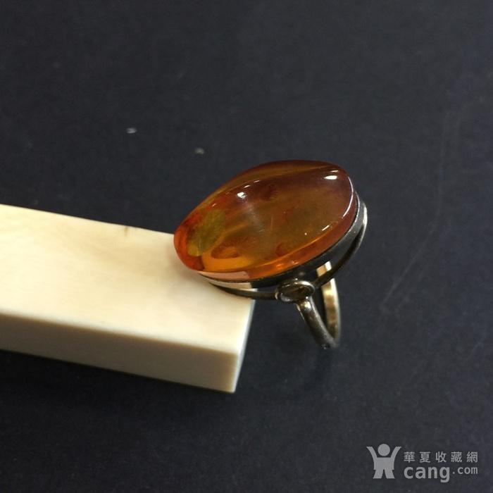 8071欧洲回流俄罗斯银鎏金琥珀戒指图4