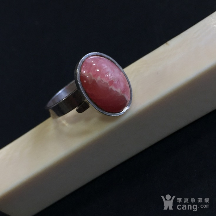 8078欧洲回流835老银嵌宝石戒指图5