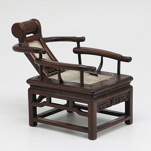 清 木嵌云石小躺椅