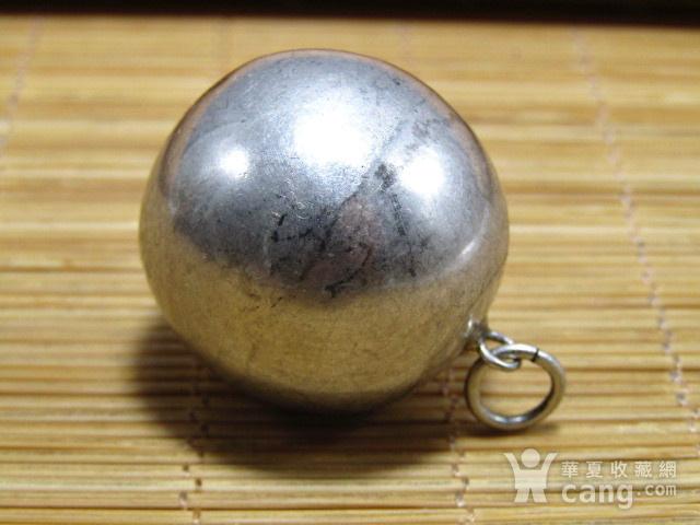清纯银打造 转运球 吊坠 包浆厚重图5