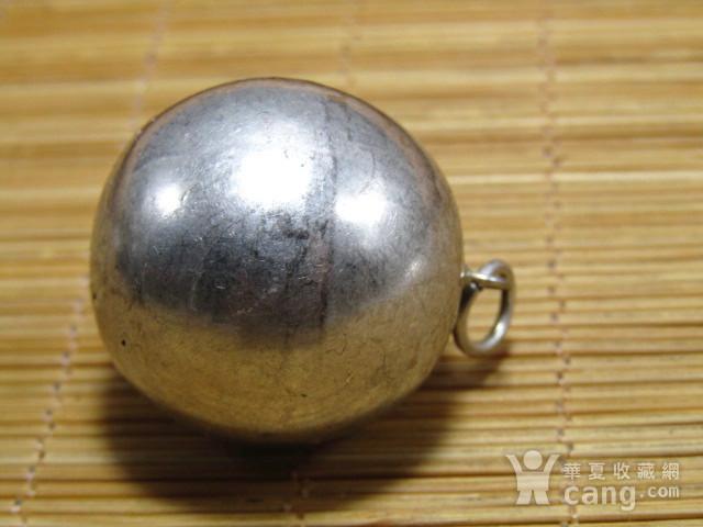 清纯银打造 转运球 吊坠 包浆厚重图8
