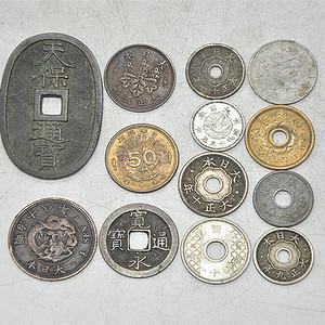 日本老钱币十三枚