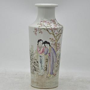 仕女人物粉彩瓷瓶