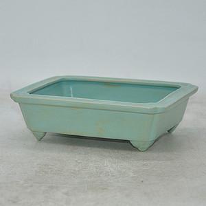 绿釉小方盆