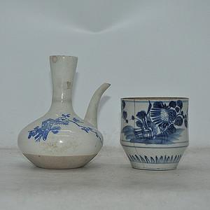 青花瓷壶 瓷罐
