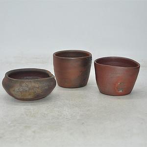 日本備前烧茶具三个