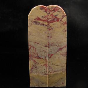 奇石收藏  经典老坑昌化六面鸡血石大对章
