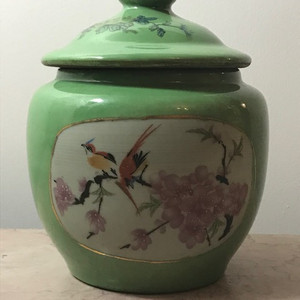7030 民国花鸟盖罐