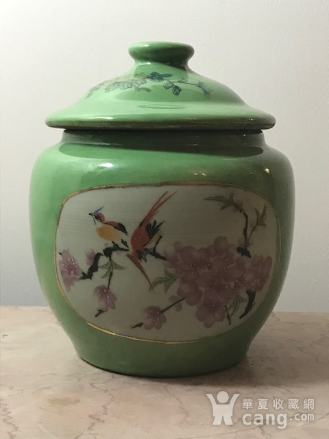 7030 民国花鸟盖罐图1