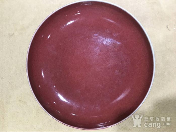 海外回流红釉盘图1