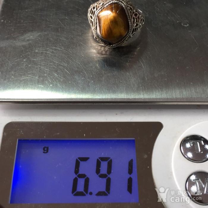 8083欧洲回流花丝镶嵌虎睛石戒指图11
