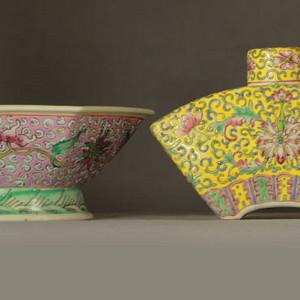 民国粉彩瓷器两件