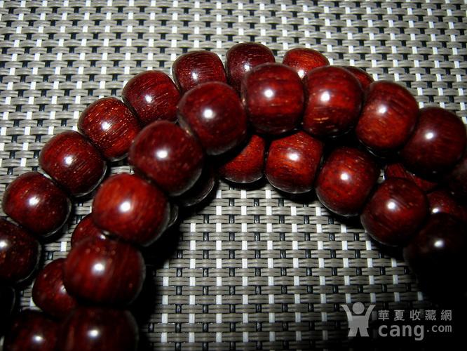 小叶紫檀苹果珠108佛珠4号图5