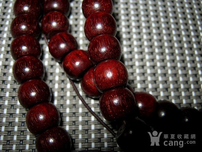 小叶紫檀苹果珠108佛珠4号图4