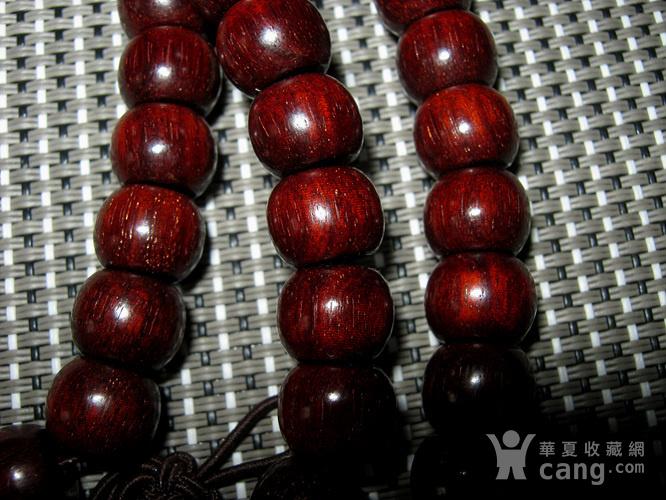 小叶紫檀苹果珠108佛珠4号图3
