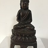 明代早期铜漆金释迦牟尼佛像