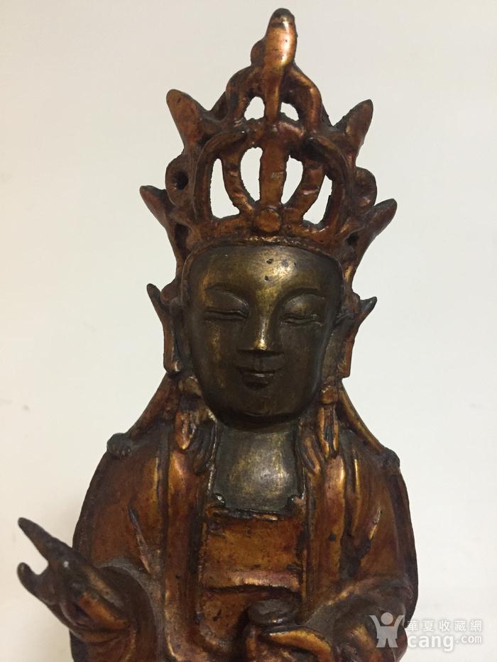 明代铜漆金观音菩萨图7
