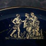 希腊24k金绘神话人像小盘