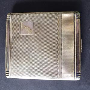 8113欧洲回流老合成银烟盒