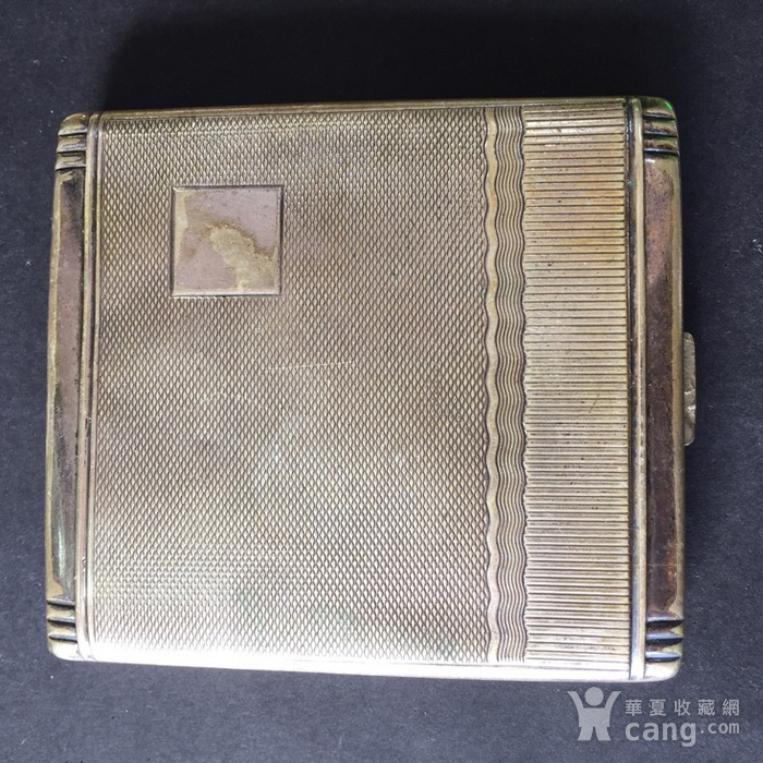 8113欧洲回流老合成银烟盒图1