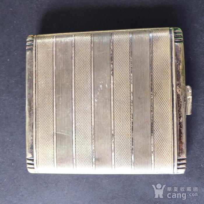 8113欧洲回流老合成银烟盒图2
