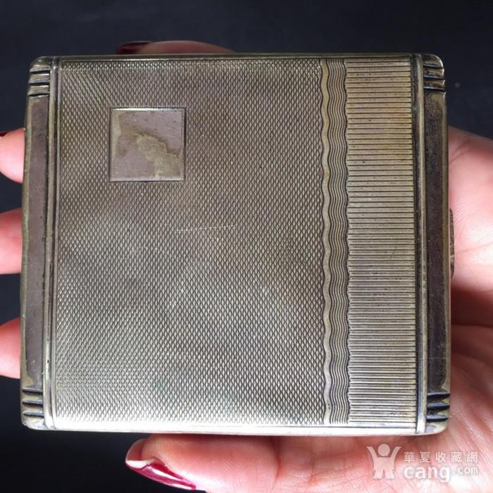 8113欧洲回流老合成银烟盒图4