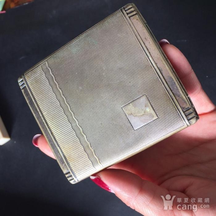 8113欧洲回流老合成银烟盒图10