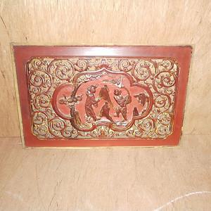 楠木镏金雕刻板