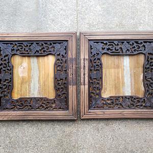 榉木画框一对