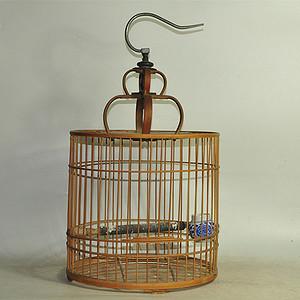 孟字款竹鸟笼