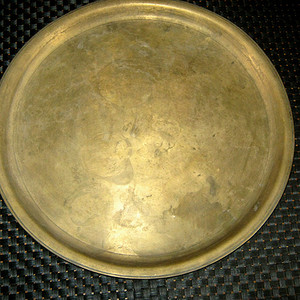 清代铜茶盘