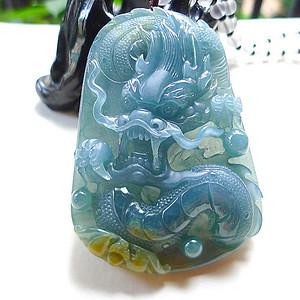 自然光实拍!天然A货好种绿蓝水料种水龙牌