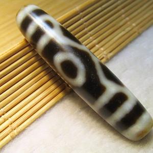 藏传 爆老百年 双降魔杵 守护 六眼老天珠 包浆老道