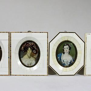 19世纪 欧洲收藏级签名画四幅