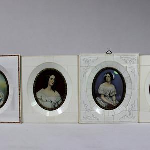 19世纪 珍贵 欧洲收藏级签名画四幅 2