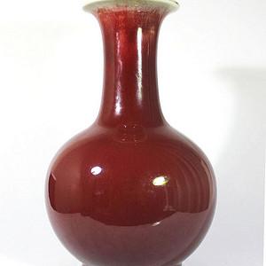 压轴重器 清中 清早 红釉瓶
