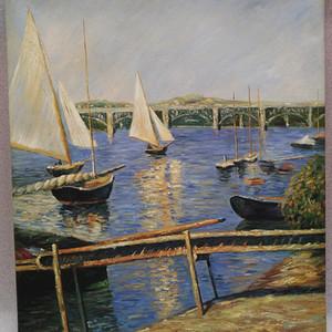 no.47 跨海大桥及海港中停泊的帆船