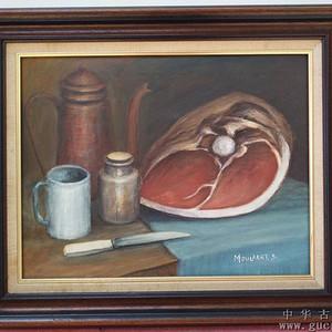 no.40 静物画 桌上的海贝及餐刀