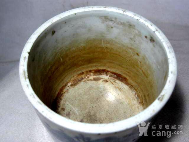 清早期青花笔筒图4