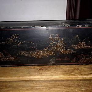 清代漆画木盒