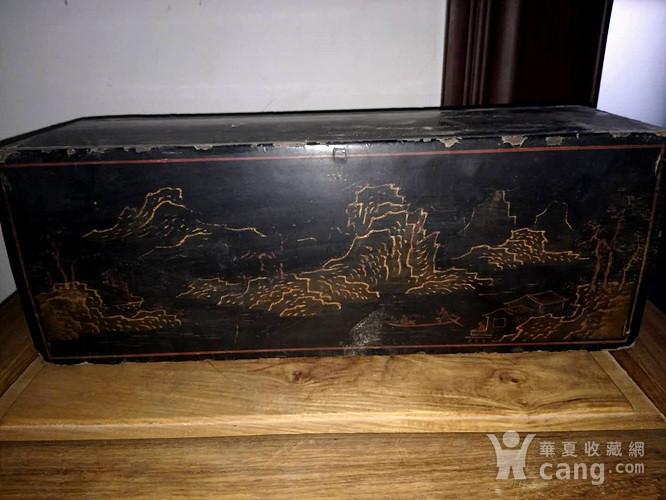 清代漆画木盒图1
