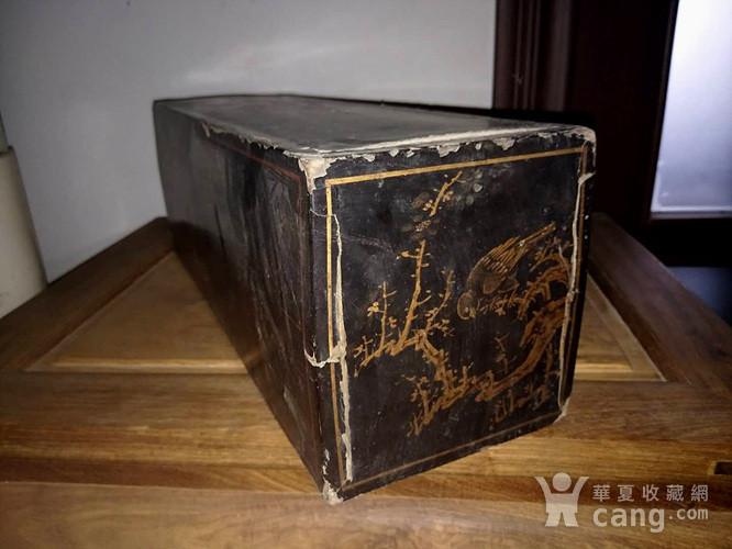 清代漆画木盒图2