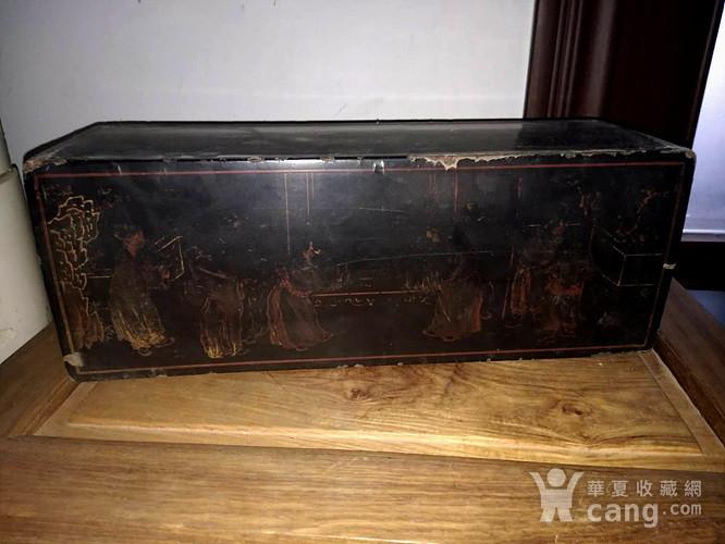 清代漆画木盒图5